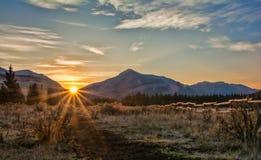 Lever de soleil de YaHa Tinda Photographie stock libre de droits