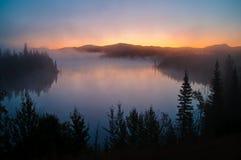 Lever de soleil de Yukon Image stock