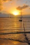 Lever de soleil des Caraïbes Images libres de droits