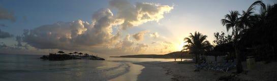 Lever de soleil des Caraïbes Photo libre de droits