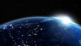 Lever de soleil des Etats-Unis Images stock