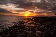 Lever de soleil des Fidji images libres de droits