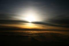 Lever de soleil des tailles Photo libre de droits