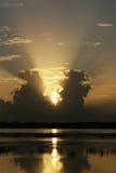 Lever de soleil divin Image libre de droits