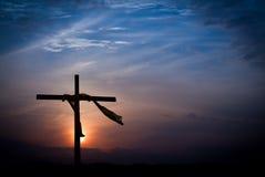 Lever de soleil dramatique de matin de Pâques Images libres de droits