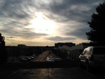 Lever de soleil DTC de lundi image libre de droits