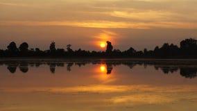 Lever de soleil du Cambodge Angkor Vat images libres de droits