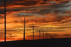 Lever de soleil du Colorado Photo stock