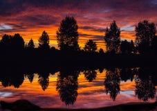 Lever de soleil du Colorado, Broomfield, le Colorado Images stock