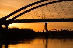 Lever de soleil du Minnesota Photos libres de droits