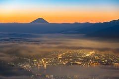 Lever de soleil du mont Fuji Photo libre de droits