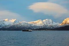 Lever de soleil du nord de la Norvège Images libres de droits