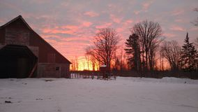 Lever de soleil du nord du Minnesota Photographie stock