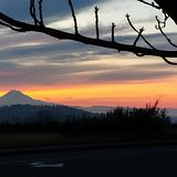 Lever de soleil du nord-ouest Pacifique photo libre de droits