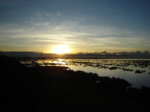 Lever de soleil du ` s de Titicaca Photo libre de droits