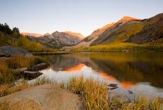 Lever de soleil du sud de lac Photographie stock