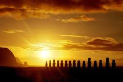 Lever de soleil en île de Pâques Photo libre de droits