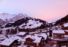 Lever de soleil en belle Suisse Images stock