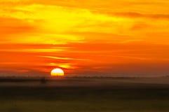 Lever de soleil en Bulgarie 5 images stock