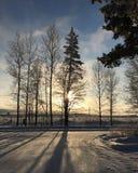 Lever de soleil en Finlande Photo stock