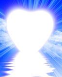 Lever de soleil en forme de coeur illustration de vecteur