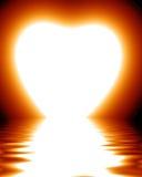 Lever de soleil en forme de coeur illustration libre de droits