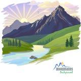 Lever de soleil en haute montagne Image stock
