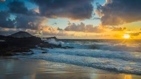 Lever de soleil en Hawaï Photographie stock