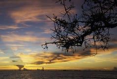 Lever de soleil en île de Sanibel Photos stock