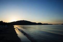 Lever de soleil en mer Images stock
