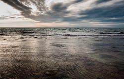 Lever de soleil en mer Image libre de droits