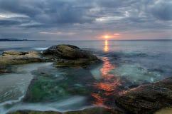 Chemin du Sun Photographie stock libre de droits