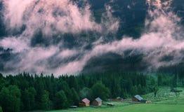 Lever de soleil en montagne Photos libres de droits