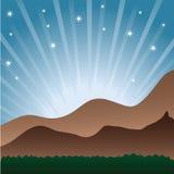Lever de soleil en montagnes Photographie stock libre de droits
