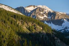 Lever de soleil en montagnes du Colorado Photos libres de droits