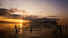 Lever de soleil en parc de Haishe dans Yunnan Photo stock