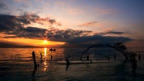 Lever de soleil en parc de Haishe dans Yunnan Photographie stock libre de droits