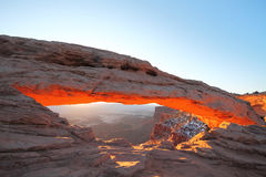 Lever de soleil en parc national de Canyonlands Photos libres de droits