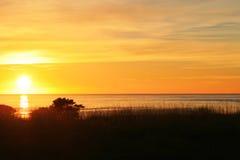 Lever de soleil en Tasmanie Images libres de droits