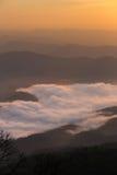 Lever de soleil en Thaïlande du nord Images libres de droits