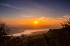 Lever de soleil en Thaïlande du nord Photos stock