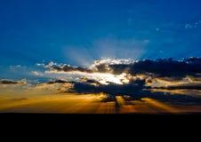Lever de soleil en vallée de monument Images stock