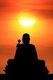 Lever de soleil et Bouddha Photographie stock libre de droits