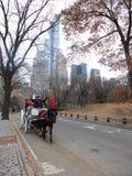 Lever de soleil et coucher du soleil dans le Central Park Images stock