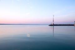 Lever de soleil gentil chez le Lac Balaton photo stock