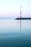 Lever de soleil gentil chez le Lac Balaton images libres de droits