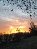 lever de soleil givré Photos libres de droits