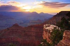 Lever de soleil de canyon grand images libres de droits