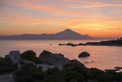 Lever de soleil grec image libre de droits