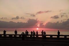 Lever de soleil de Key West, la Floride image libre de droits
